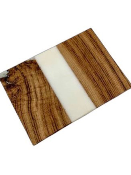 Oak & White Resin Chopping Board