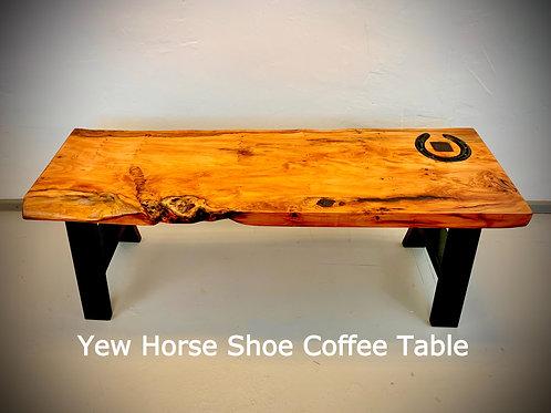 Yew Horseshoe Coffee Table