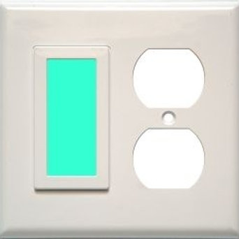 SideLite for duplex outlet