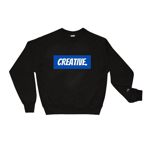 "Æ ""CREATIVE"" Champion Crewneck Blue"