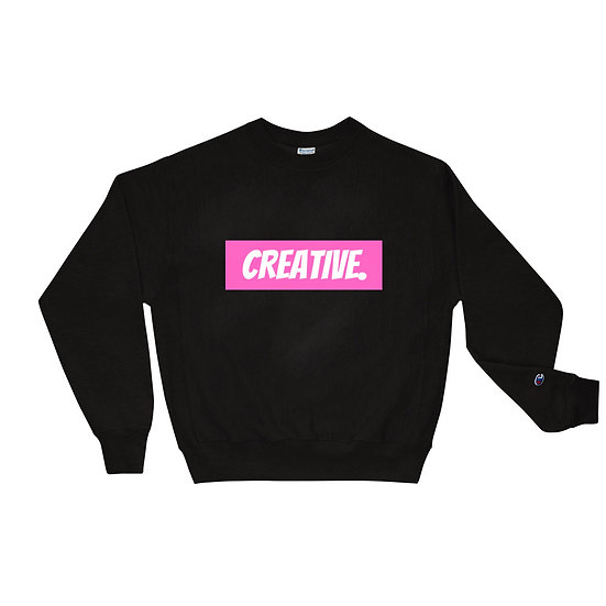 "Æ ""CREATIVE"" Champion Crewneck Pink"
