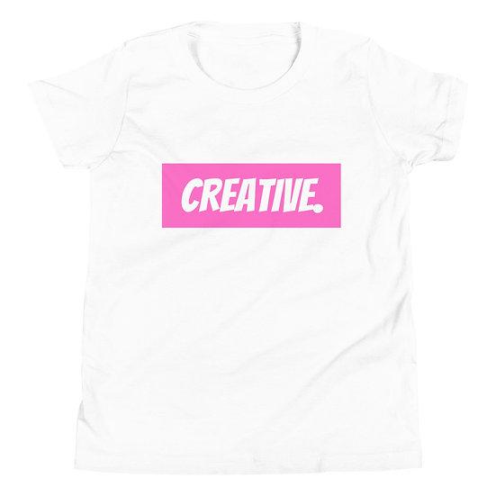 "Æ ""CREATIVE"" Youth Tee Pink"