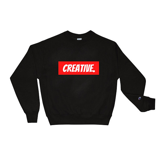 "Æ ""CREATIVE"" Champion Crewneck Red"