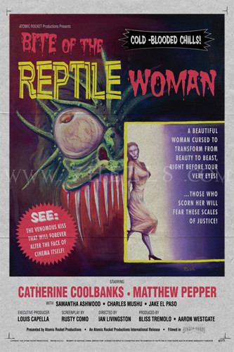BITE OF THE REPTILE WOMAN FATIGUED POSTER