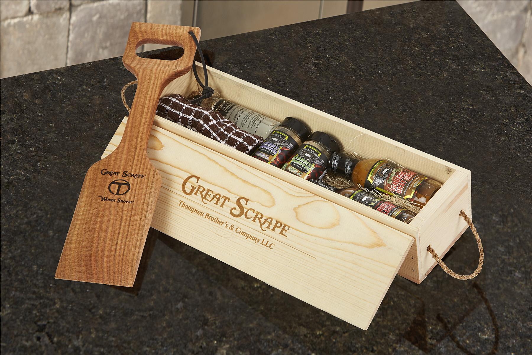 Gift Box Shovel on granite-29894 4x6