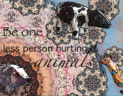 Be one less person hurting animals