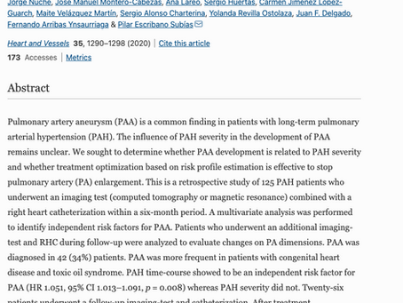 Influence of long-standing pulmonary arterial hypertension and its severity on pulmonary artery aneu