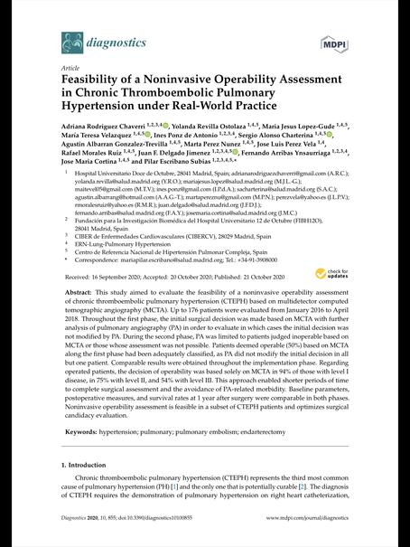 Feasibility of a noninvasive operability assessment in chronic thromboembolic pulmonary hyper...