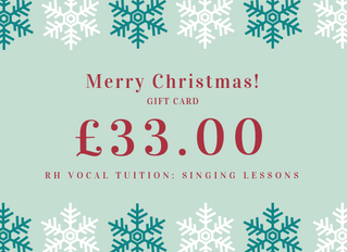 Christmas Gift Vouchers: Singing Lessons