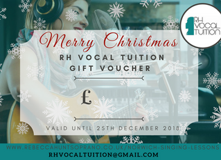 Christmas Gift Vouchers | Norwich Singing Lessons