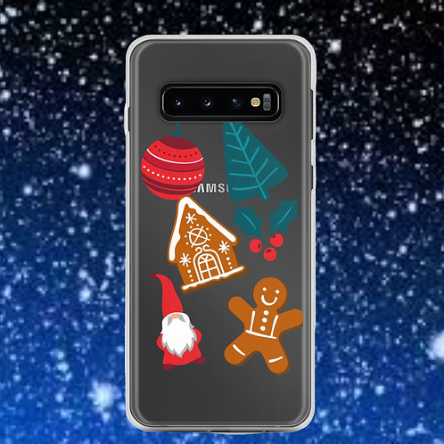 Samsung Phone With Christmas Stickers