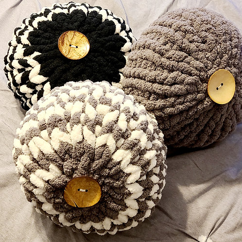 (3-set) Kozy Puff Pillow