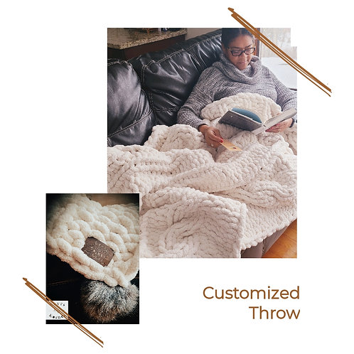 Cable Knit Throw (8 color options)