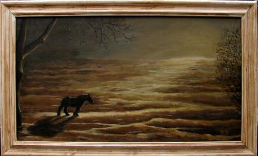 Paard in landschap