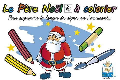 Le Père Noël (coloriage et histoire)