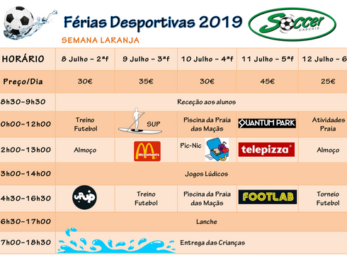 Férias Desportivas Julho 2019