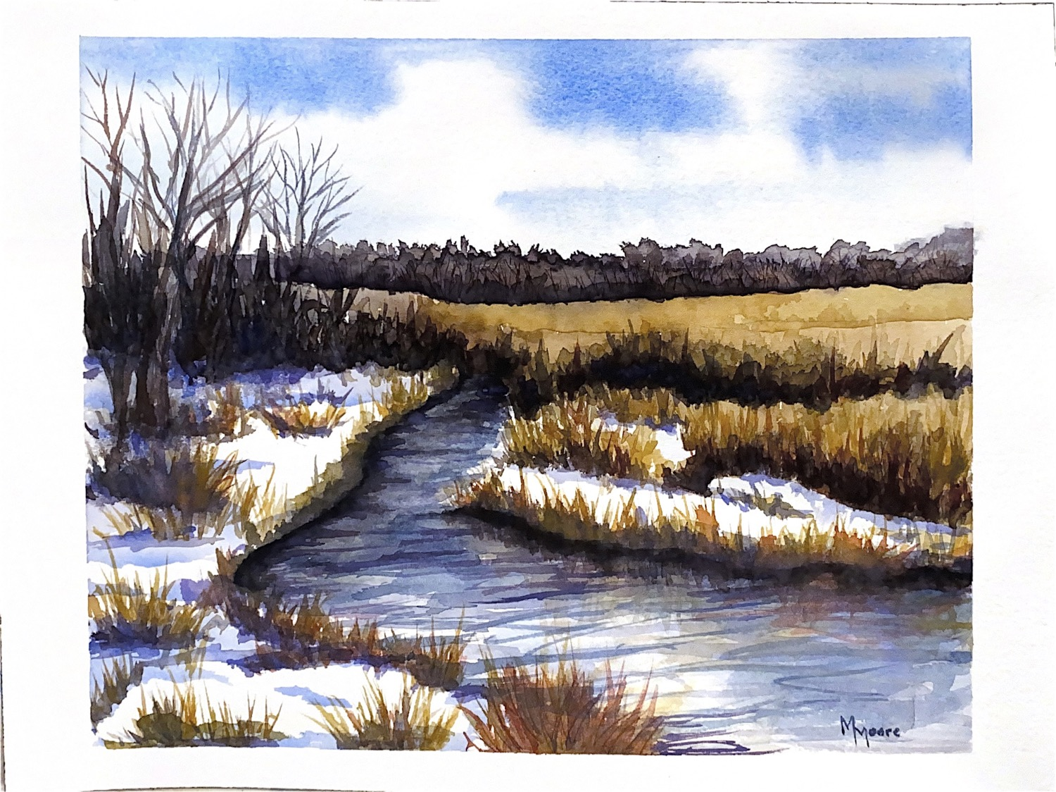 """Purgatory Creek in late March"""