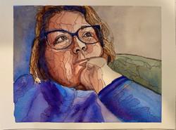 """ Covid Isolation Self Portrait"""