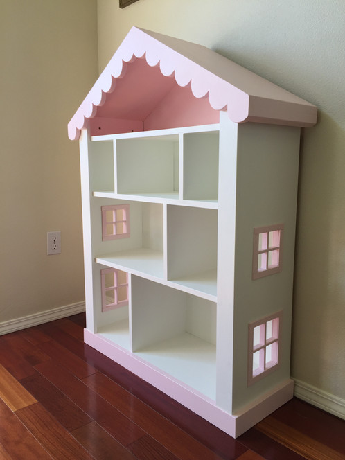 A Quality Handcrafted Sturdy Childs Bookcase With Fantasy Dollhouse Cottage Appearance