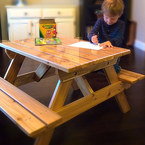 Kids Indoor Picnic Table for Preschool ages 2 - 7 years