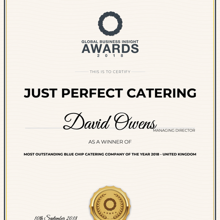 Most Outstanding Blue Chip Catering Company- United Kingdom