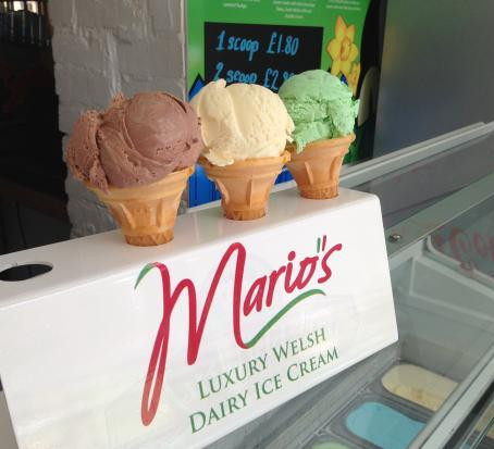 Mario's Ice Cream: Make your Summer Complete.