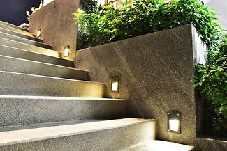 stairs with side lights