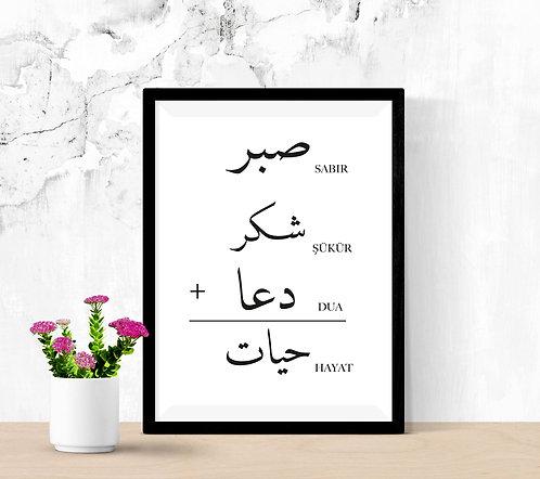 Sabir + Sükür + Dua = Hayat