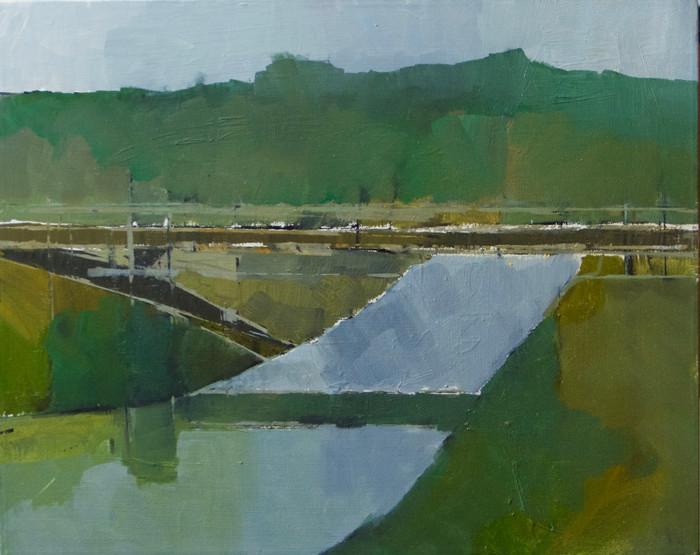 The White Bridge III | 2012 | Oil on canvas | 40.6 x 50.8 cm