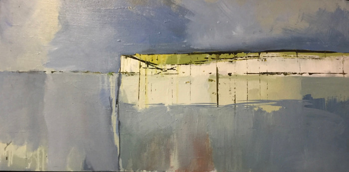 Seaford Head | 2011 | Oil on board | 30 x 77 cm
