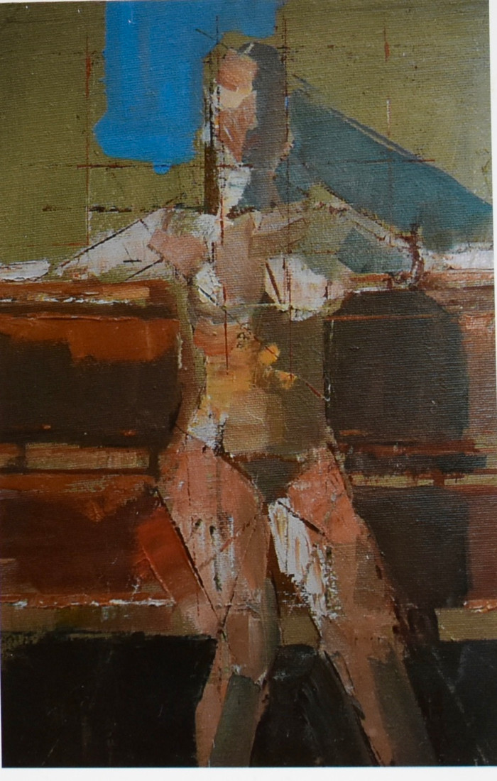 Seated nude oil sketch | c.1992 Slade Life Room | Oil on canvas | 41 x 32 cm
