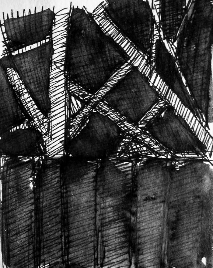 Tree Sketch | 1998 | Ink | 20.3 x 15.2 cm