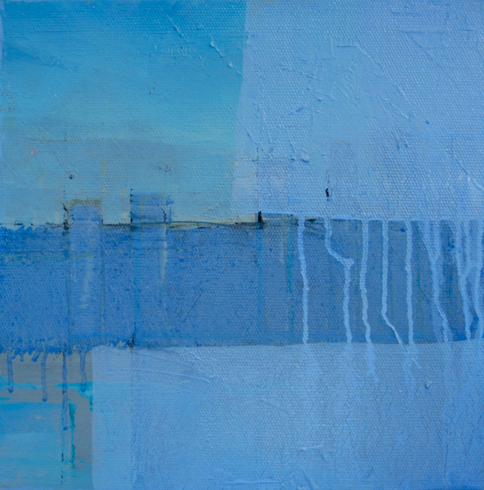 Blue breaker | c.2013 | Oil on canvas | 30.5 x 30.5 cm