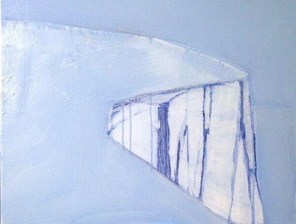 Snow on Beachy Head | 2013 | Oil on canvas | 32 x 42 cm