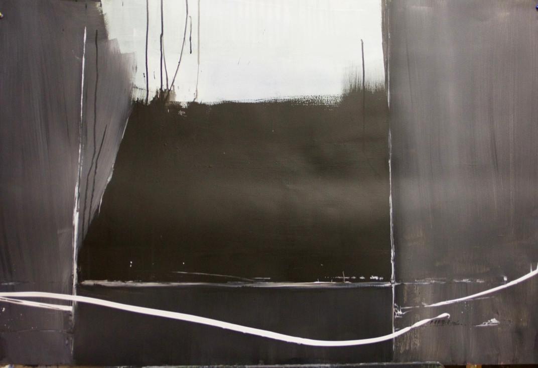 Beyond | 2016 | Acrylic on paper | 80 x 121 cm