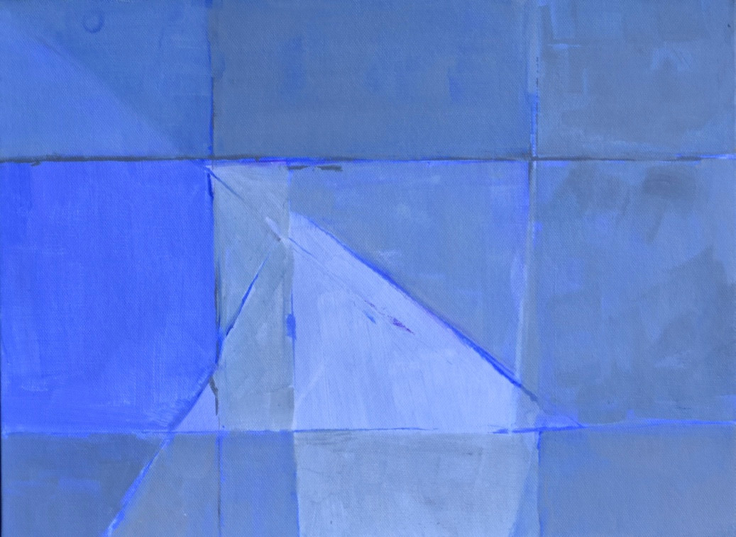 Cliff abstract | c.2014 | Acrylic on canvas | 33 x 43.2 cm