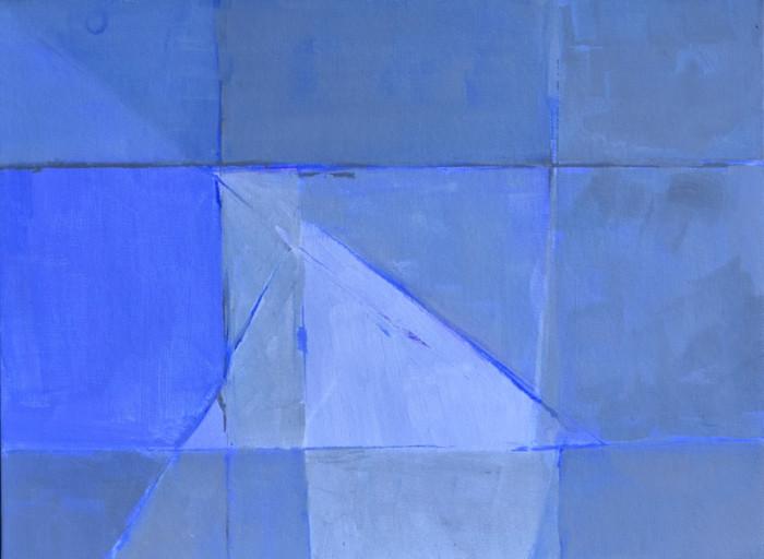 Cliff abstract | c.2014 | Acrylic on canvas | 33 x 43.2 cm