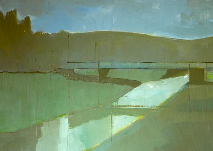 The White Bridge at Dusk | 2010 | Oil on canvas | 40.6 x 55.9 cm