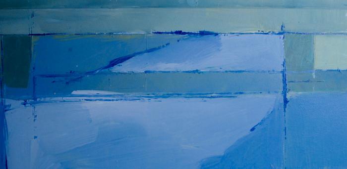 Under the White Bridge | c.2012 | Oil on board | 30.5 x 71.1 cm