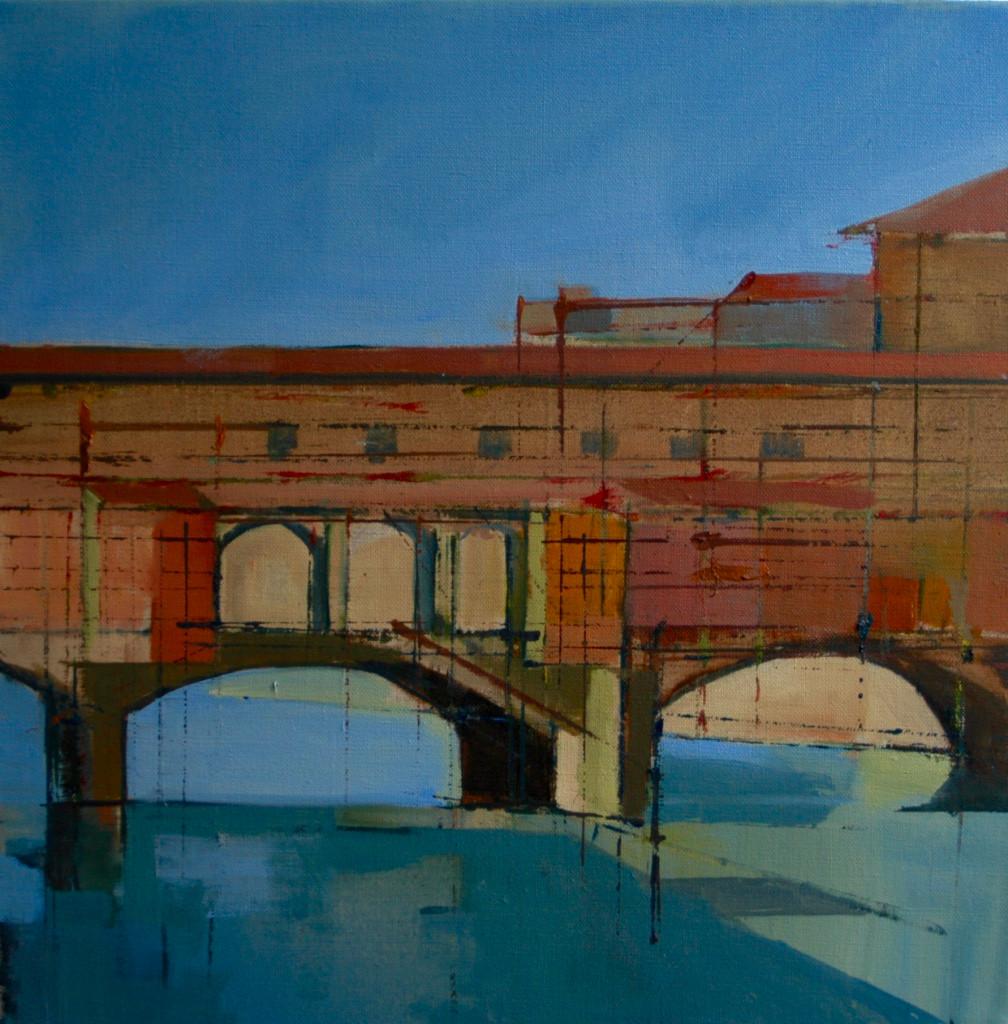 Ponte Vecchio | 2015 | Oil sketch on canvas | 40.5 x 40.5 cm