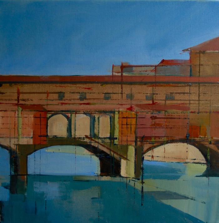 Ponte Vecchio   2015   Oil sketch on canvas   40.5 x 40.5 cm