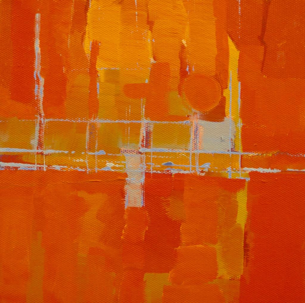 Sunset over GYC | c.2009 | Oil on canvas | 26 x 26 cm