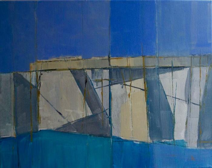 Edge I | 2013 | Acrylic on board | 42 x 52 cm