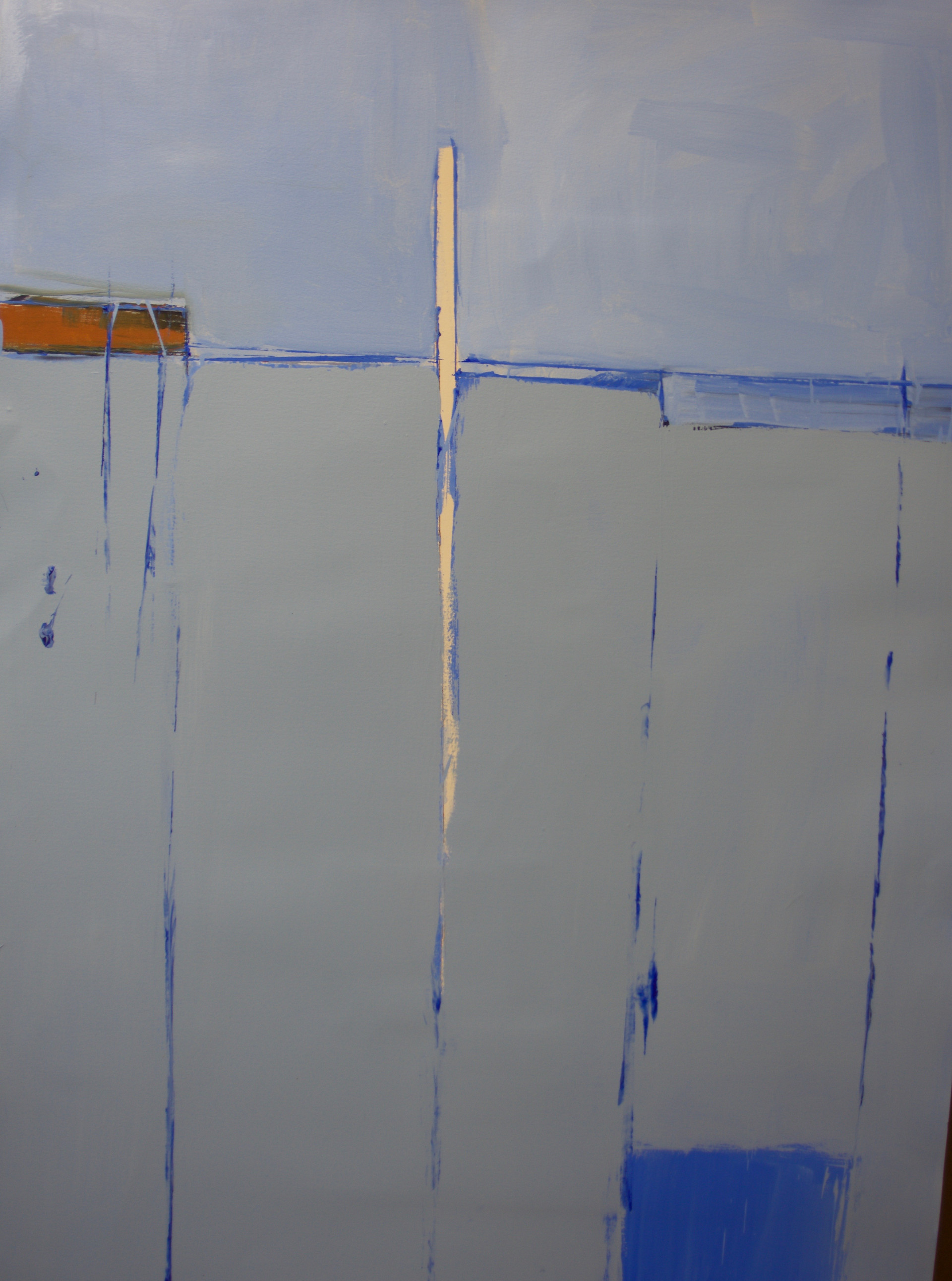 Shore | c.2014 | Oil on paper | 121 x 80 cm
