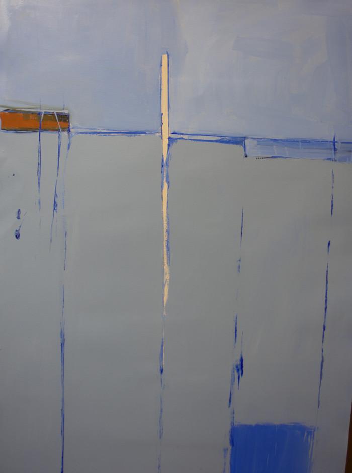 Shore | c.2014 | Oil on paper | 121 x 80 cm