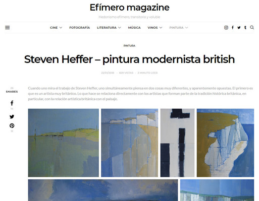 Efimero Magazine  - click below for link to article