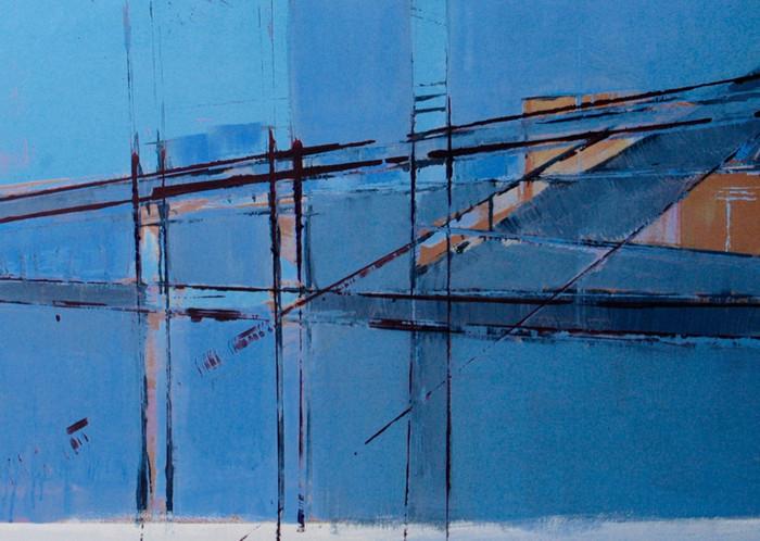Estuary series | 2013 | Oil on paper | 45.7 x 61 cm