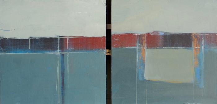 Untitled | c.2011 | Oil on board | 26.7 x 53.3 cm