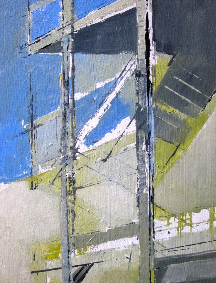 Birling stairs   2011   Oil on canvas   41.6 x 31.6 cm