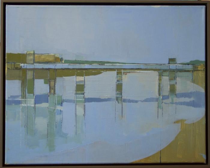 From Putney Bridge II   2013   Oil on canvas   32 x 42 cm